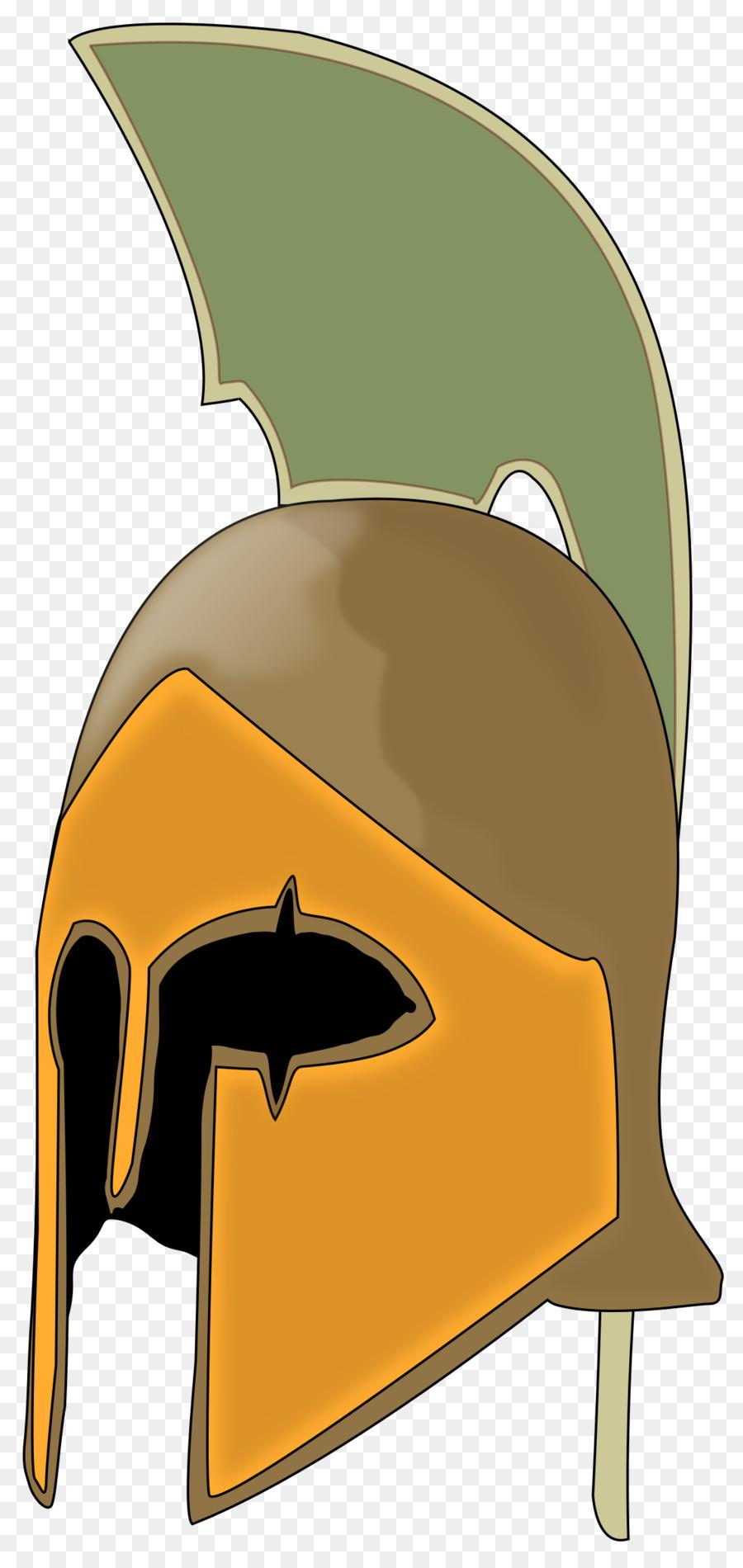 Spartan clipart knight helmet. Cartoon png download free