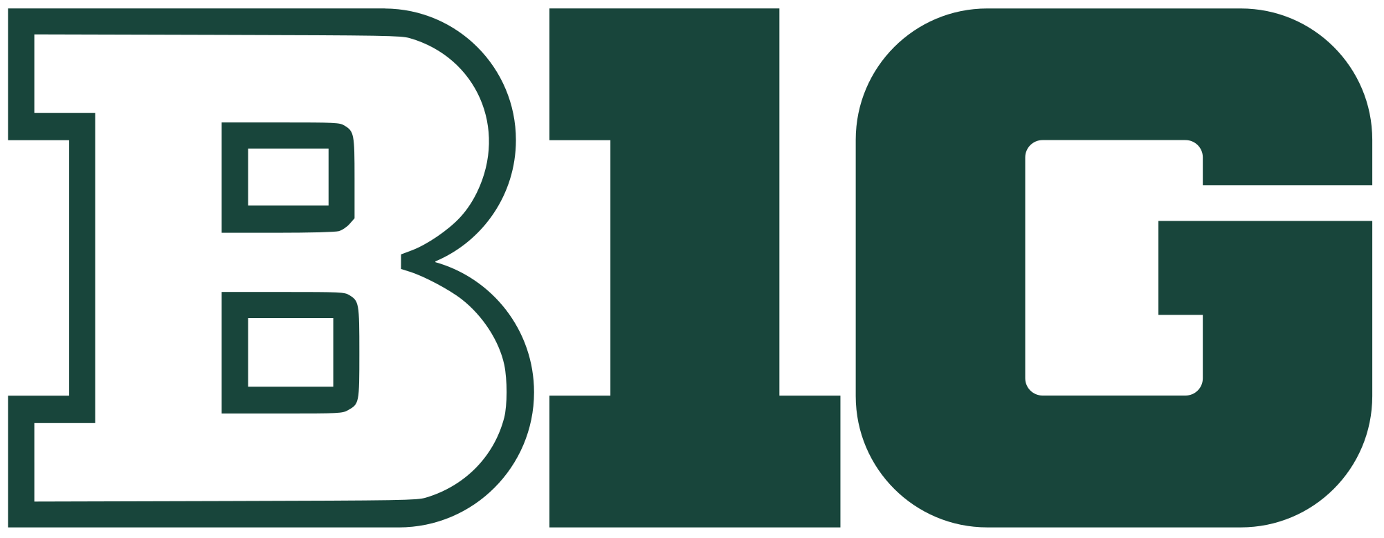 Spartan clipart michigan state. File big ten logo