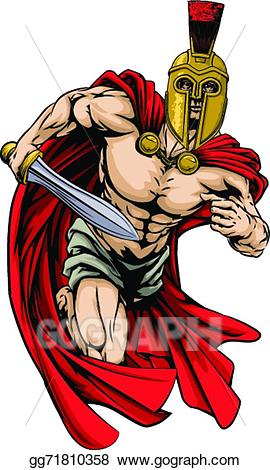 Eps illustration or trojan. Spartan clipart person