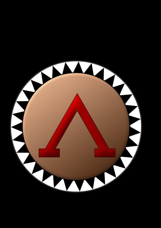Shield medium image png. Spartan clipart warrior logo