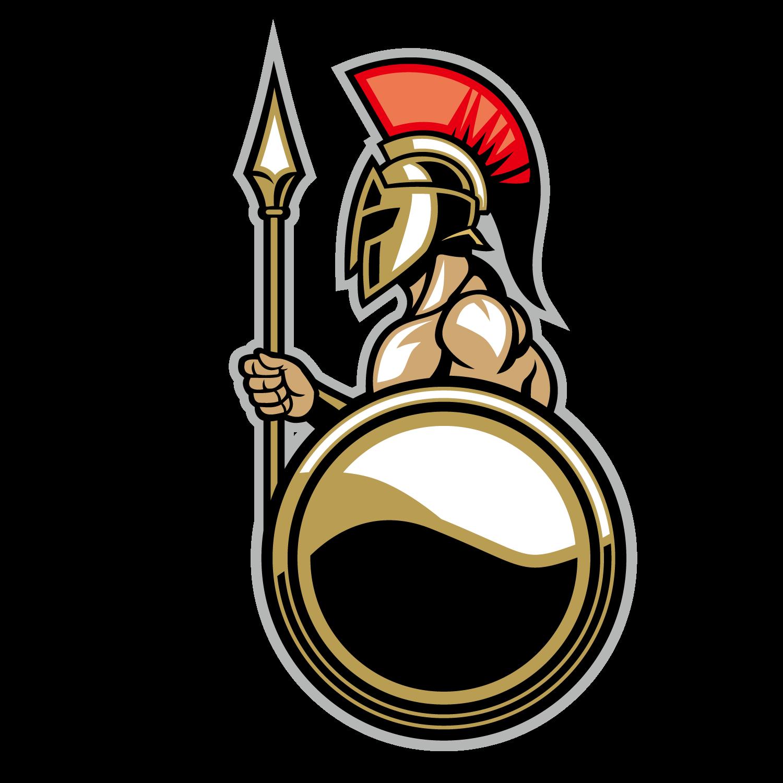 Roman army soldier handsome. Spartan clipart warrior logo