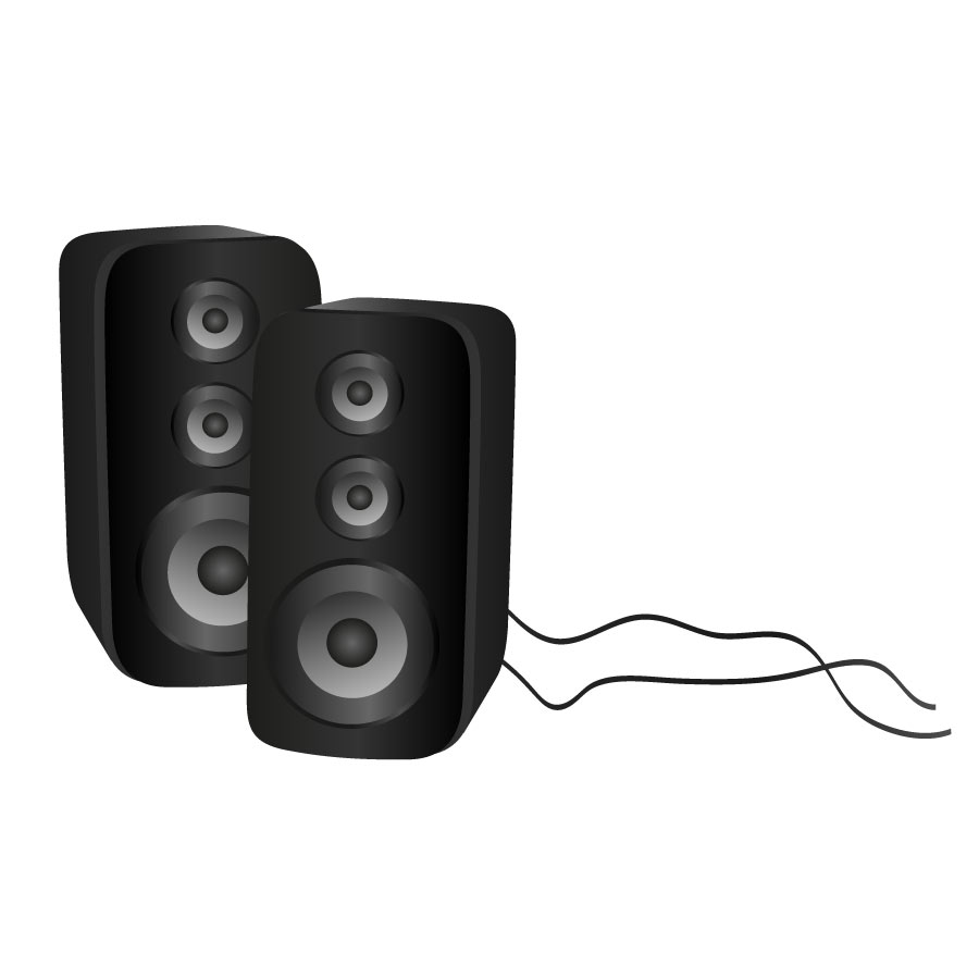 Free speaker clip art. Speakers clipart