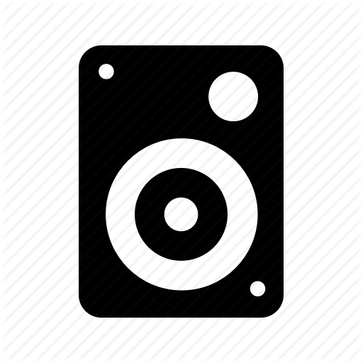 Glypho music and sound. Speaker icon png