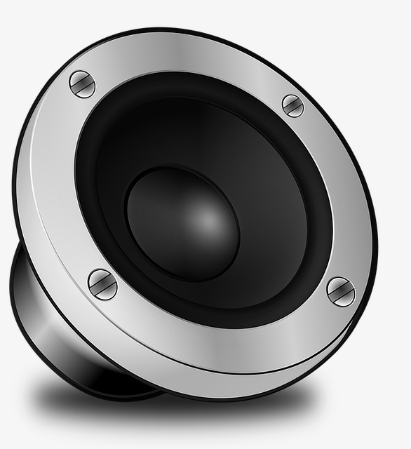 Simple speaker design black. Speakers clipart