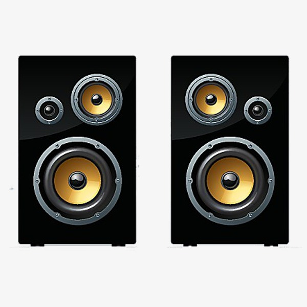 Sound black png image. Speakers clipart