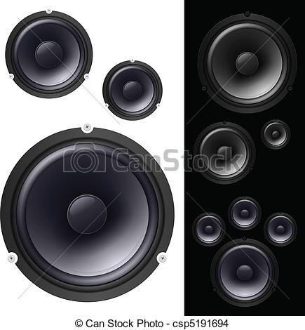 Speakers clipart. Bass pencil and in