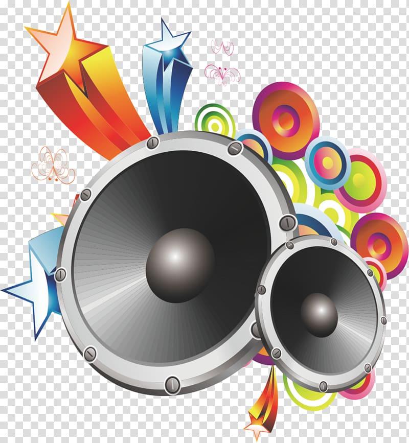 Two black loudspeaker transparent. Speakers clipart big speaker