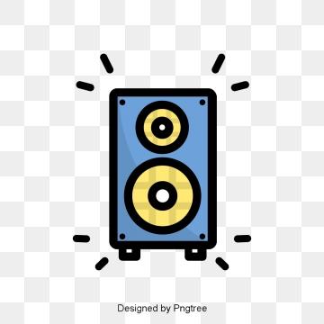Cartoon speaker png vector. Speakers clipart comic