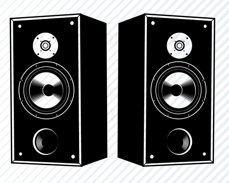 Svg files for cricut. Speakers clipart dj equipment