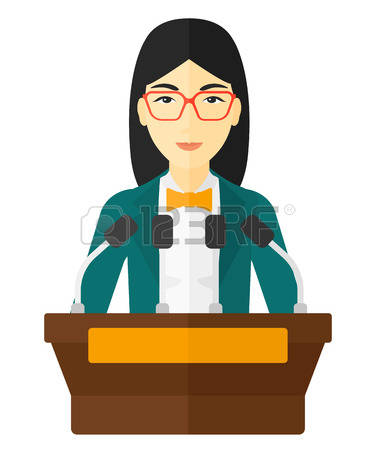 Podium cliparts free download. Speakers clipart lady