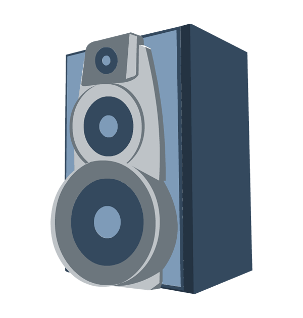 Music speaker free collection. Speakers clipart lady