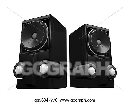 Speakers clipart woofer. Drawing sub gg gograph
