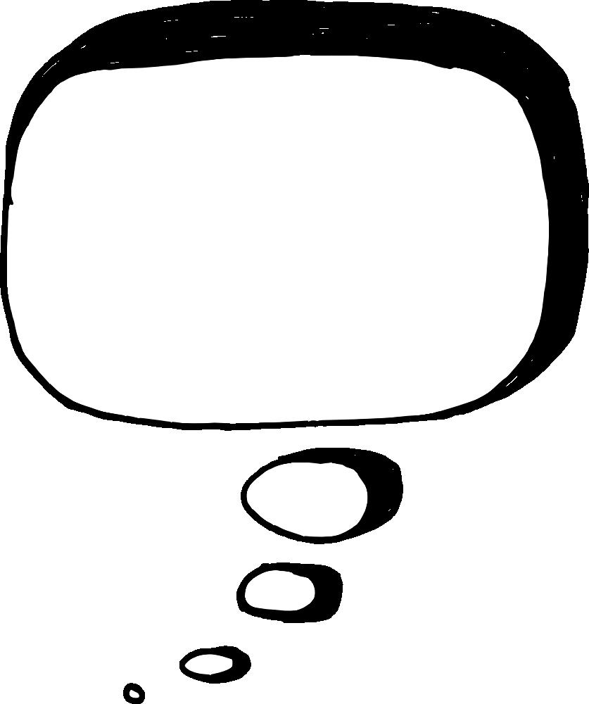 Speech bubble vector png.  hand drawn comic