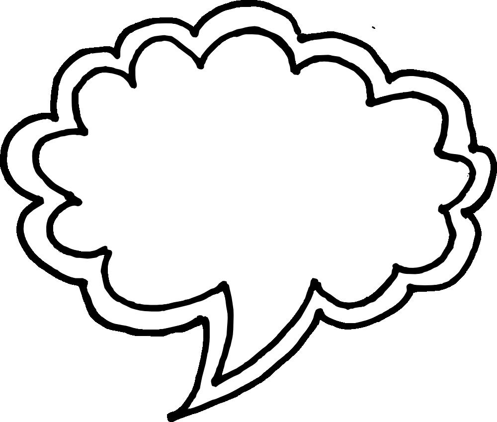 hand drawn comic. Speech bubble vector png