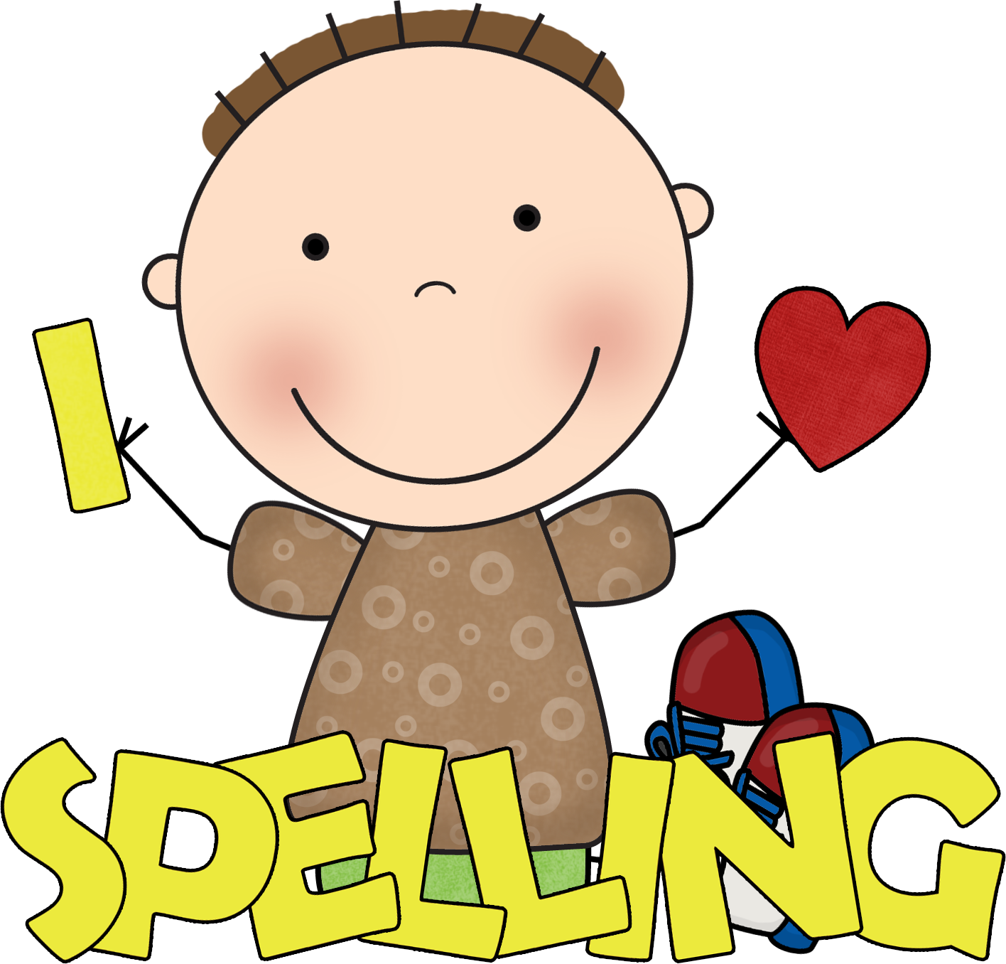 Worm clipart friendly. Free for spelling crafts