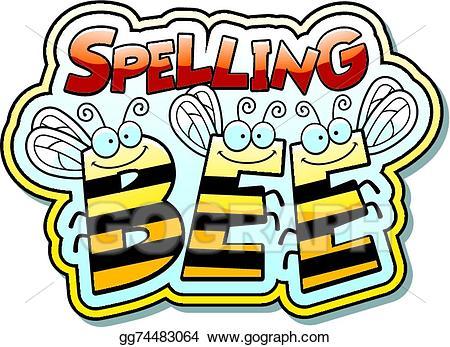 Spelling clipart cool. Vector art cartoon bee