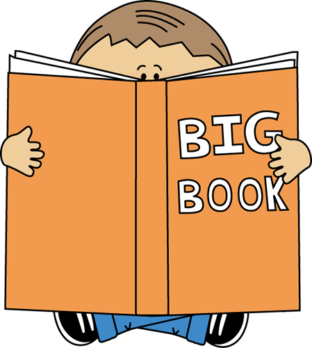 Boy a big book. Spelling clipart reading