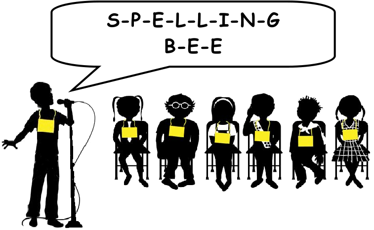 Spelling clipart spelling contest. The french touch bee
