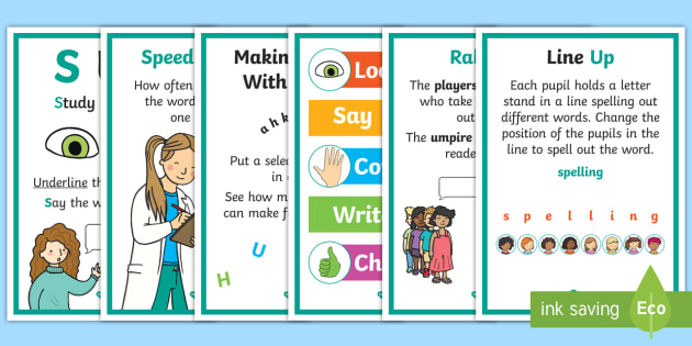 Strategies posters . Spelling clipart teaching approaches