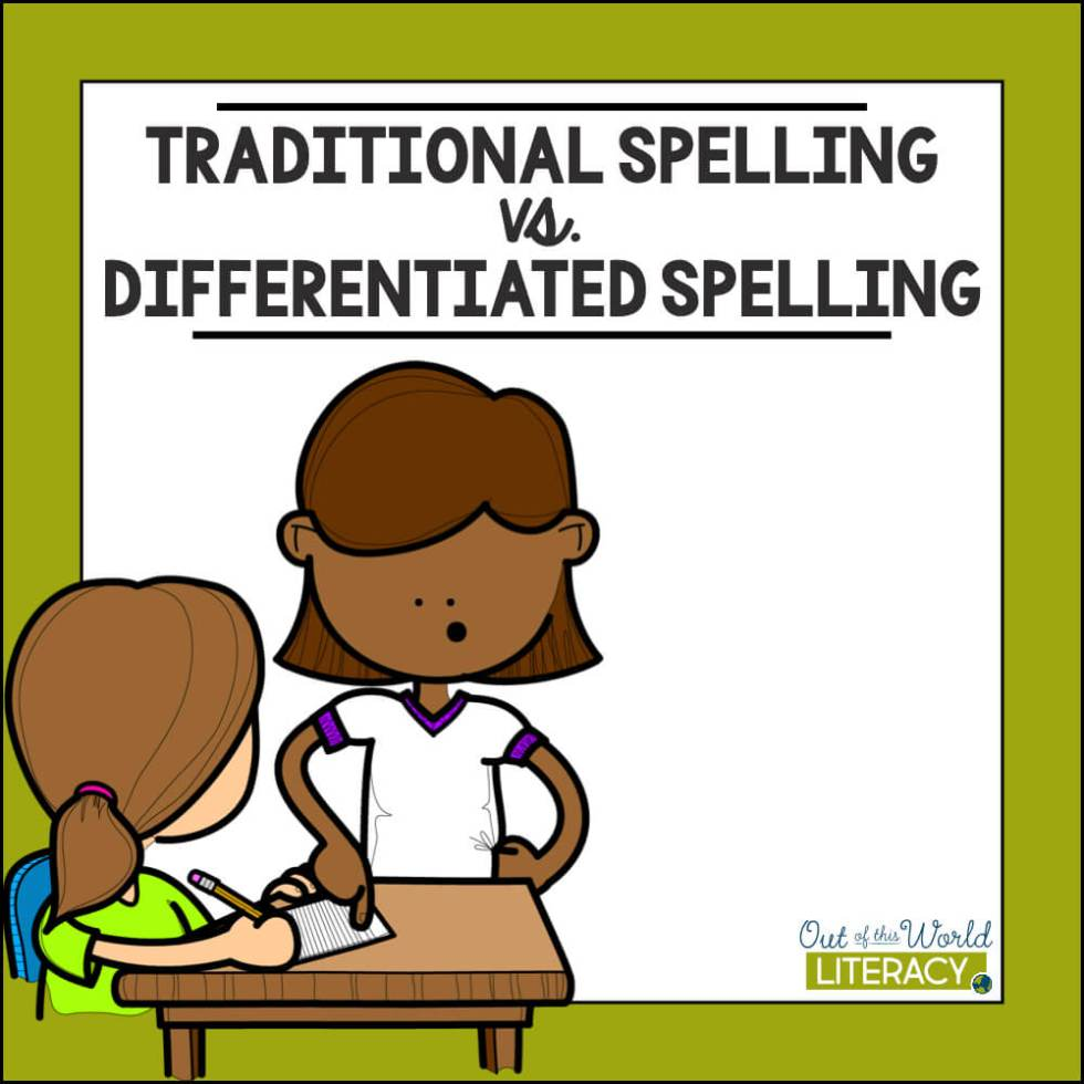 Traditional vs differentiated out. Spelling clipart teaching approaches