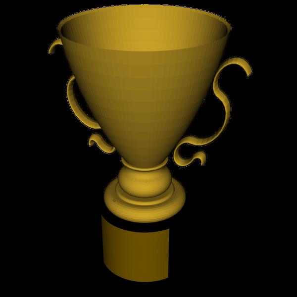D model sharecg. Spelling clipart trophy