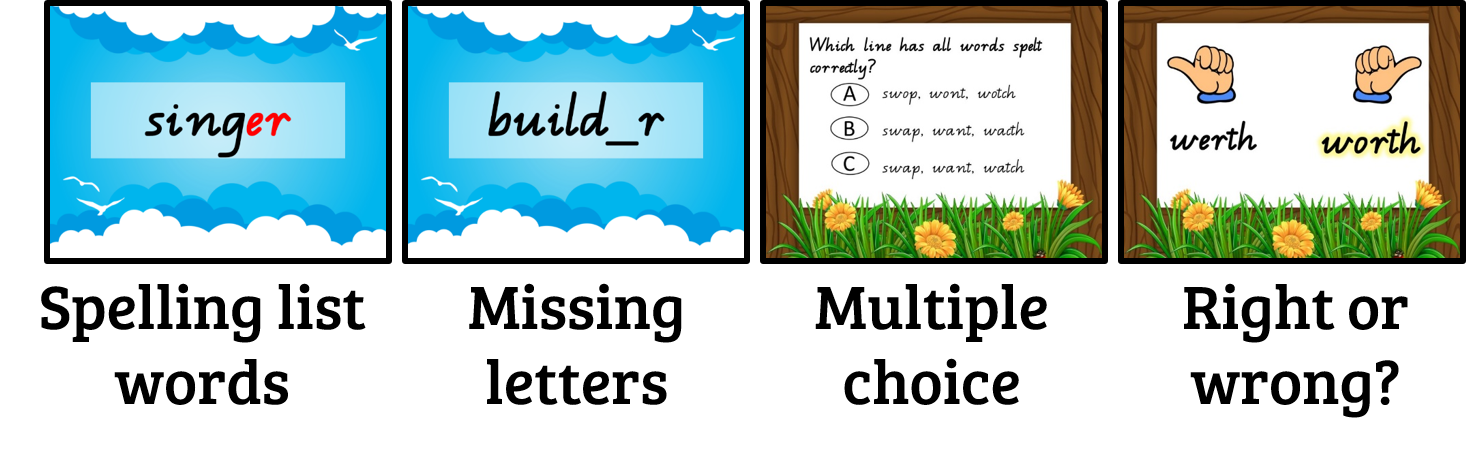 Spelling clipart word choice. Little leaps of learning
