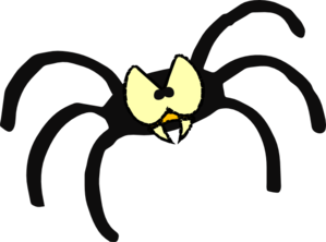Spider clipart. Mean clip art at