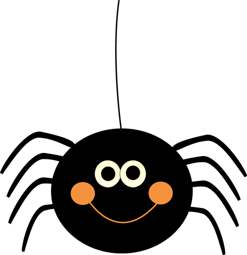 Spider clipart. Cute hanging halloween clip