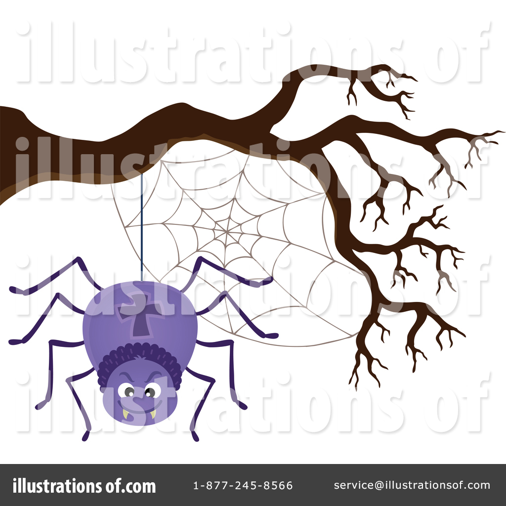 Spider clipart illustration. By visekart