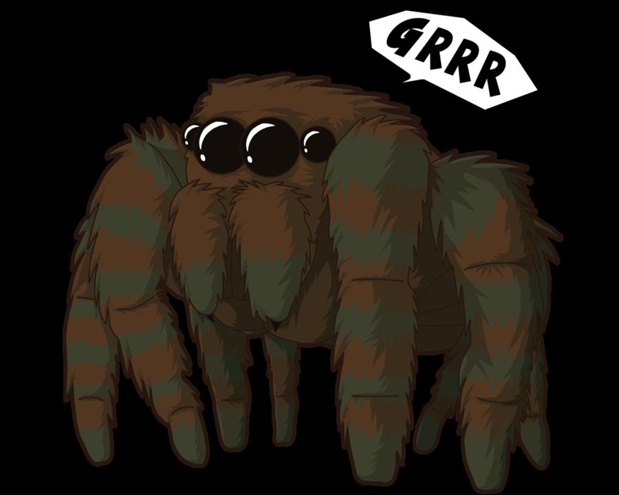 Spider clipart jumping spider. By sircostas on deviantart