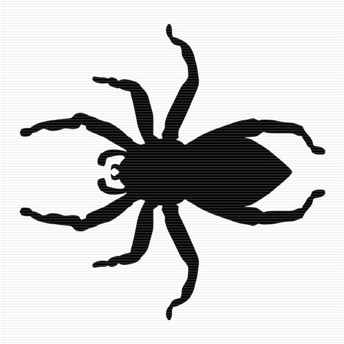 Clip art silhouette . Spider clipart jumping spider