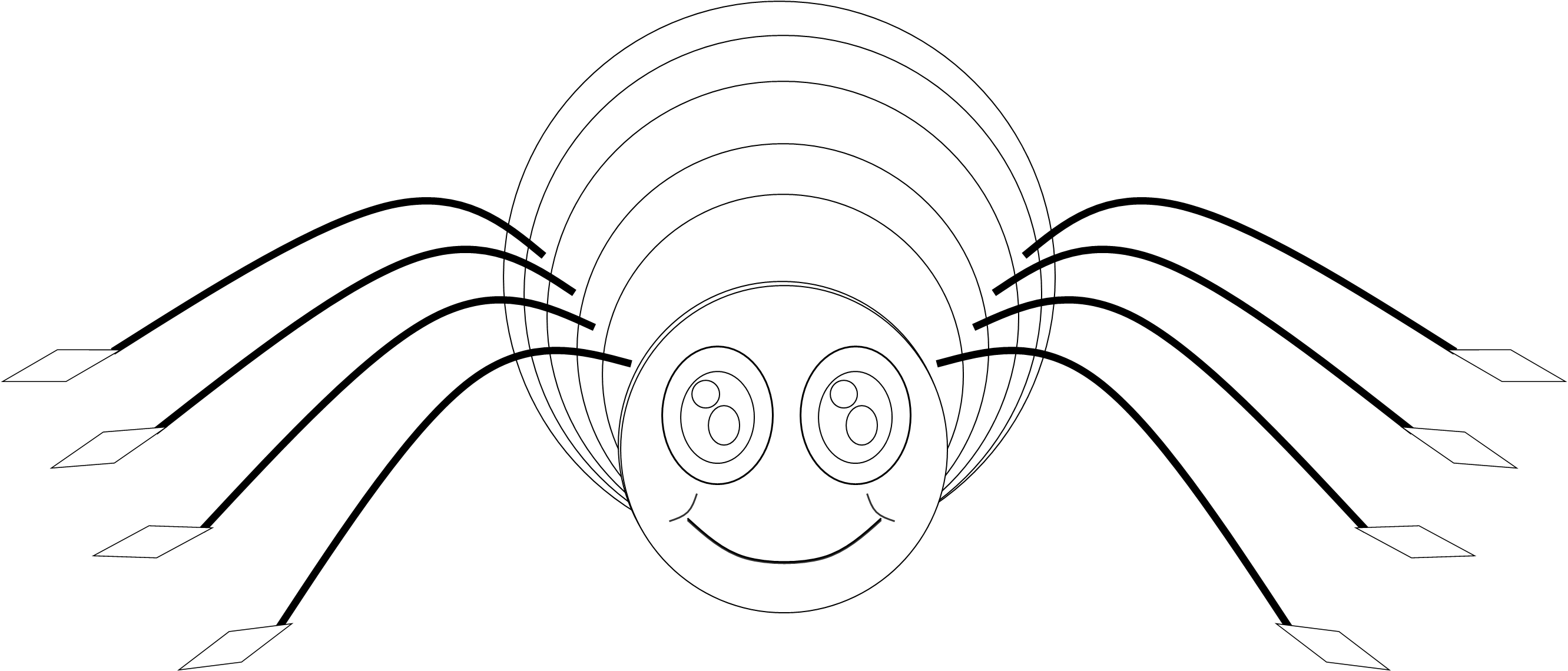 Spider clipart spider eye. Bw free images at