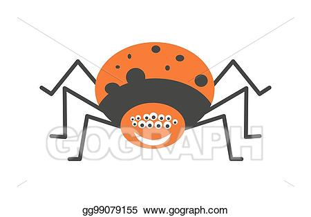 Vector art big with. Spider clipart spider eye