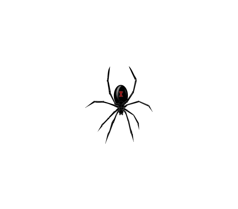 Spider clipart spider fang. Widow made by constance