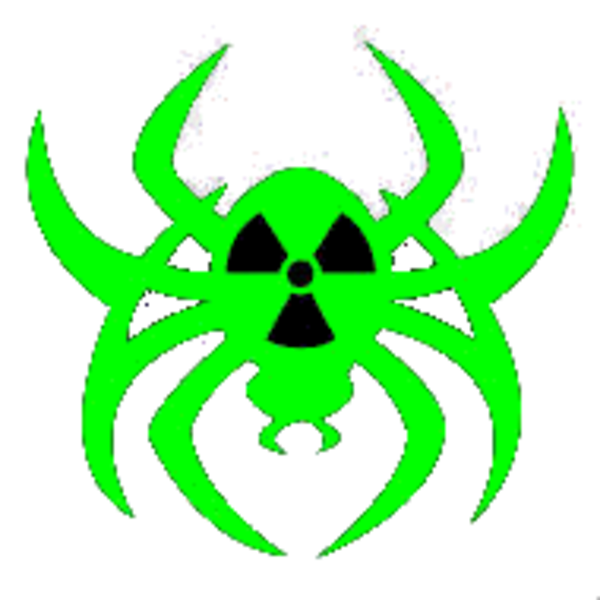 Radioactive neongreen cut free. Spider clipart symbol