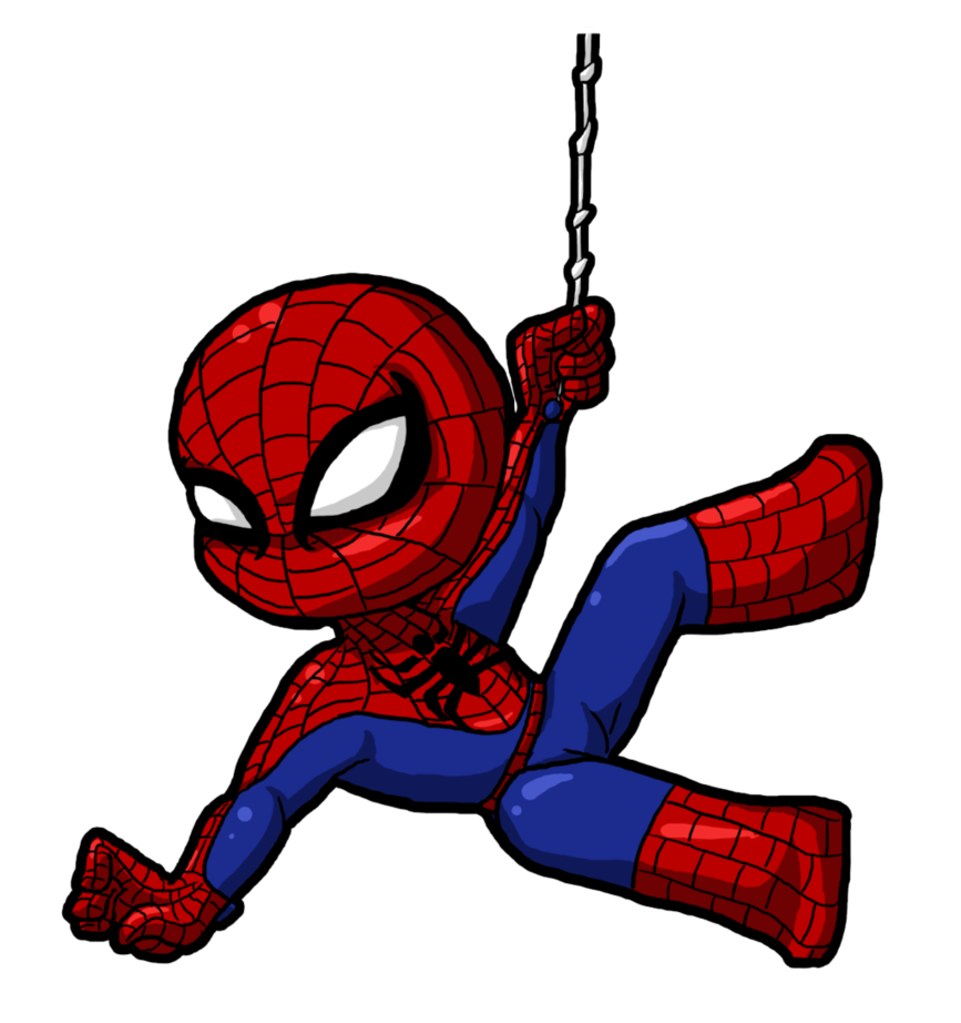 Logo clipart spiderman. Cute cartoon for kids