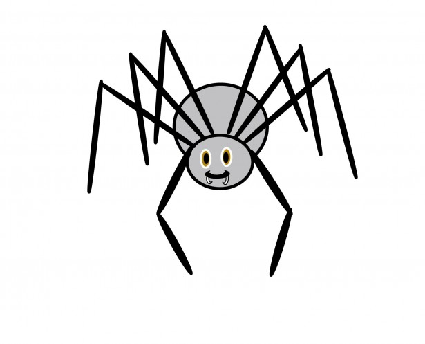 Spider clip art with. Spiders clipart