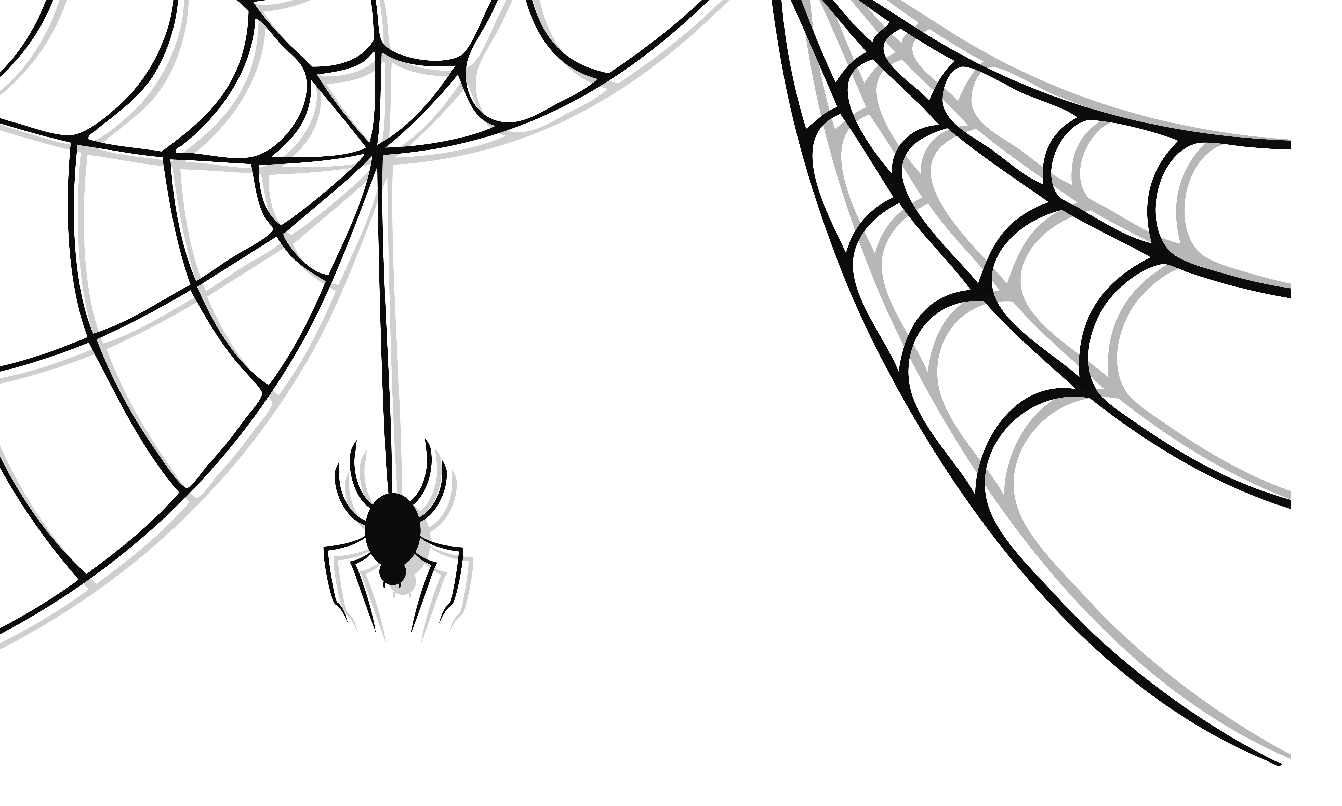 Free spider web images. Clipart halloween corner