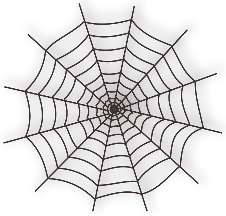 Spiderweb clipart. Large haunted spider web