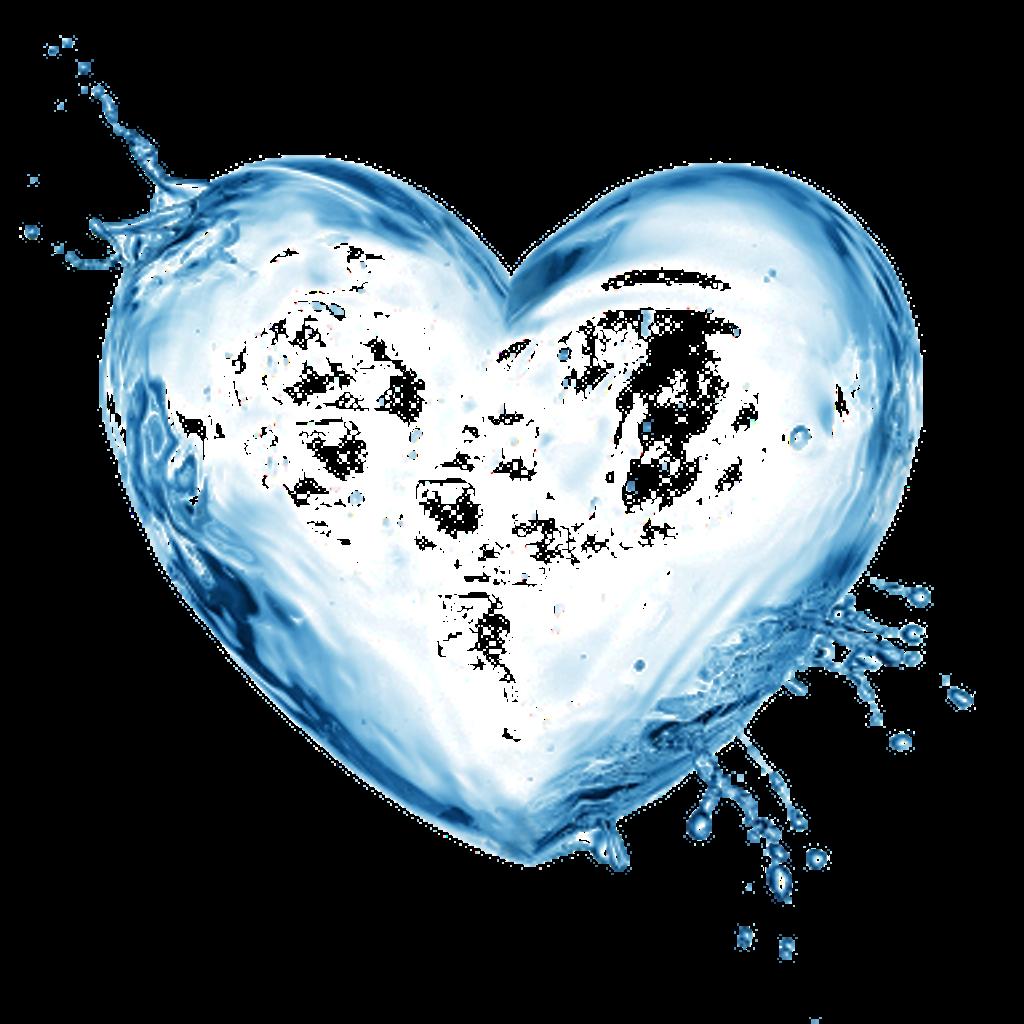 Splash clipart agua. Corazon sticker by daniela