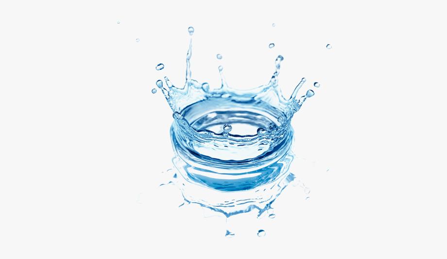 Transparent tap water salpicadura. Splash clipart agua