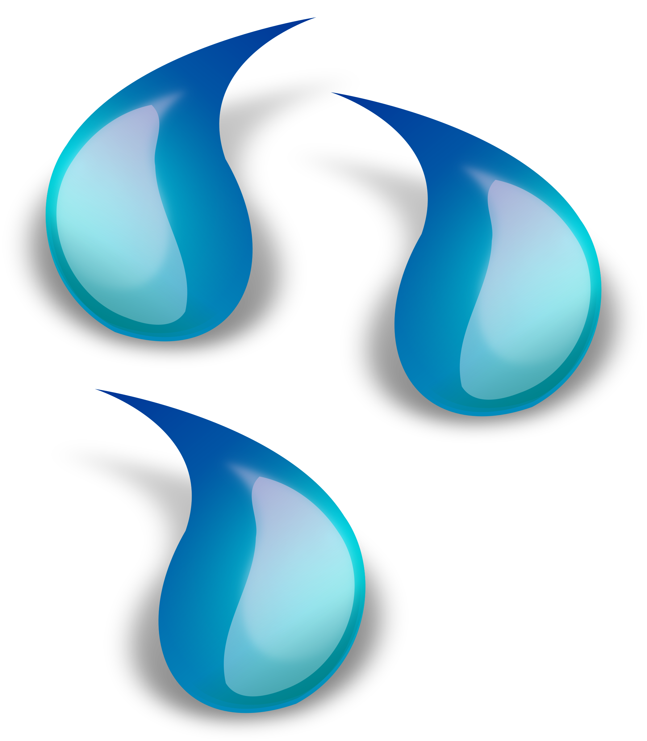 Water drop big image. Splash clipart blue slime