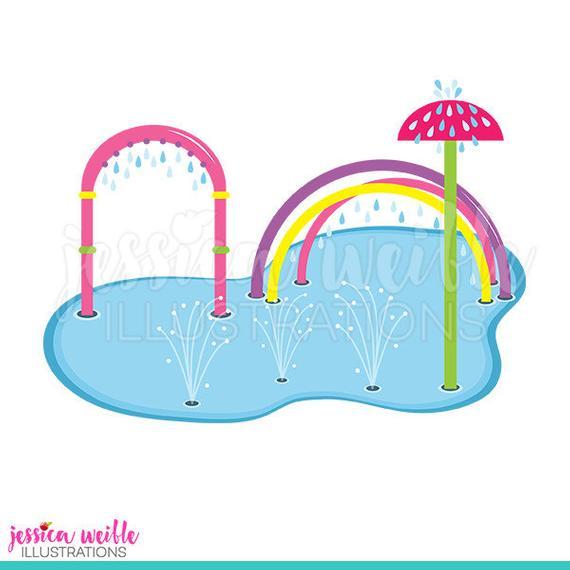Pink pad clip art. Splash clipart cute