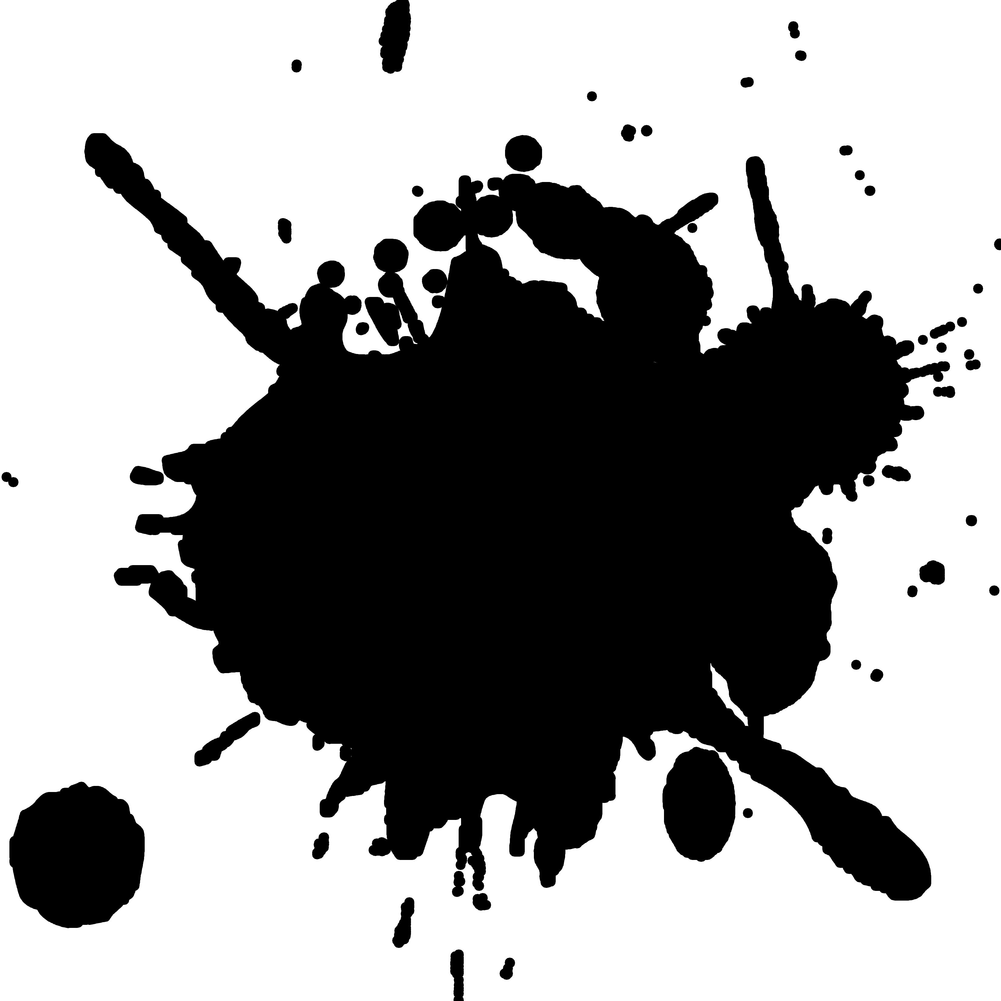 Real paint splatter . Mud clipart ink splash