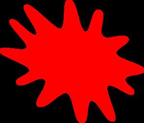 Red clipart. Paint splatter panda free