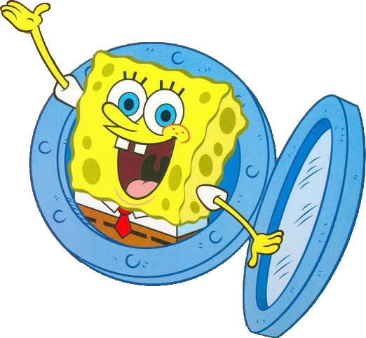Image waving from his. Spongebob house png