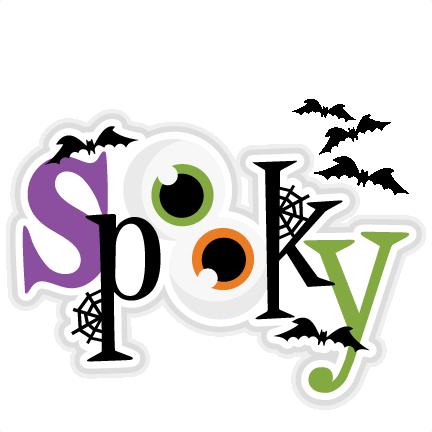 Title svg scrapbook cut. Spooky clipart