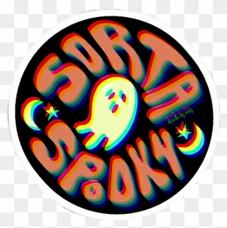 Sortaspooky scary creepy halloween. Spooky clipart sticker