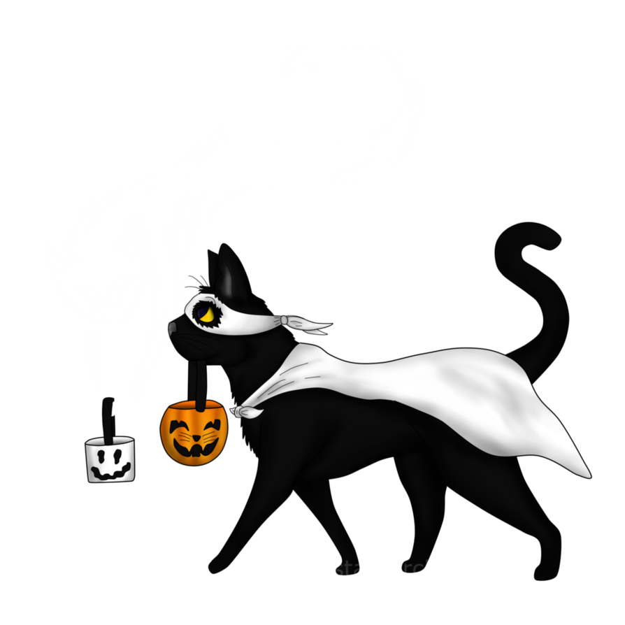 Spooky clipart transparent tumblr. Kitties by crystalcircle on