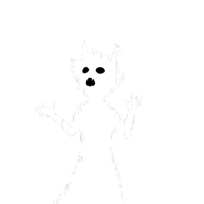 Ghost . Spooky clipart transparent tumblr
